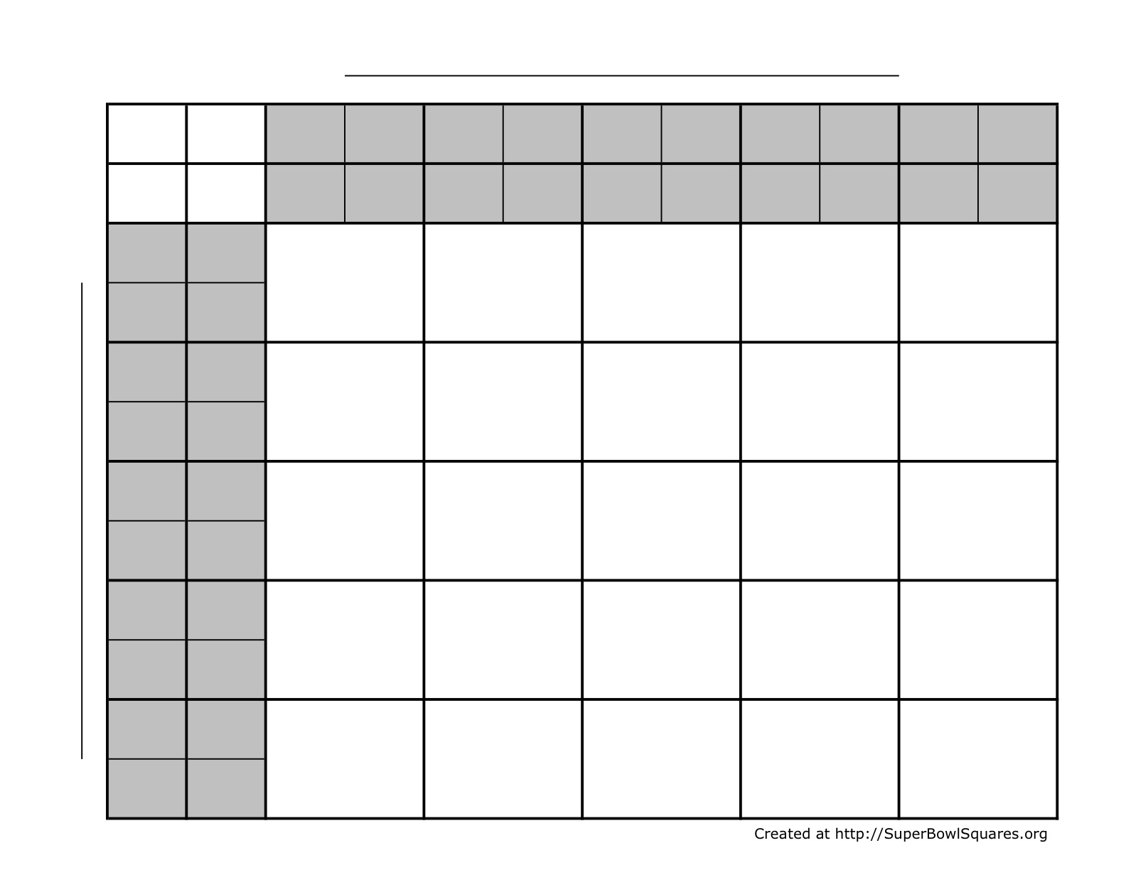 This has 25 squares available, and each square represents multiple ...